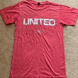 Small Red United Hillsong T-shirt